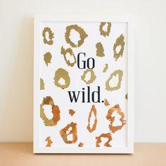 LEDEN 'Go Wild' Gold Print