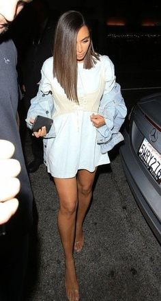 Kim Kardashian Photos: Celebrities Enjoy A Night Out At The Nice Guy - Celebrity Street Style