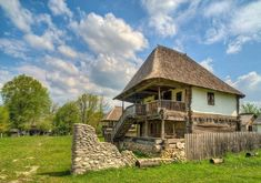 """Traditional houses in rural Romania (case traditionale romanesti) *** Upon arriving in her new home country in the young wife of Prince Carl of Romania noticed in her writings: """"Every R… Romania People, Transylvania Romania, Rural House, Old Farm, Modern Landscaping, European History, Facade House, Traditional House, Vacation"""