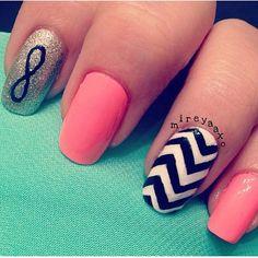 .@cutenailartdesign (Cute Nail Art ) 's- cute mix and match nails