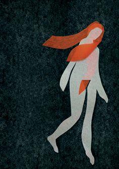 Peter Carey Paper Illustrations series