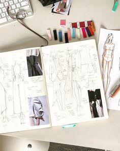 49 ideas for illustration art design sketches fashion sketchbook Mise En Page Portfolio Mode, Mode Portfolio Layout, Fashion Portfolio Layout, Fashion Sketchbook, Sketchbook Ideas, Sketchbook Drawings, Sketchbook Inspiration, Student Fashion, School Fashion