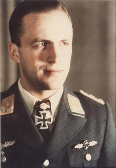 Hauptmann Manfred Meurer, Luftwaffe Night Fighter Ace with 65 aerial victories claimed in 130 combat missions.