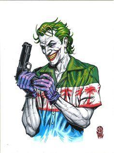 Joker Lock and Load by DanielDahl Harley Quinn Et Le Joker, Le Joker Batman, Joker Dc Comics, Art Du Joker, Der Joker, Photos Joker, Joker Images, Fotos Do Joker, Joker Drawings