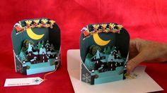 Saint Nick's Ride Pop-Up Christmas Card Ornaments.