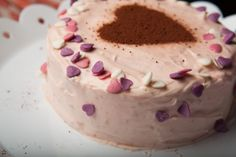 Vegan Chocolate Cake For Two Frosted Hearts