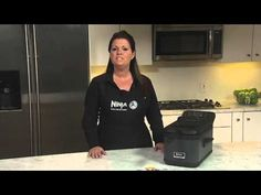 Ninja Frying System makes cooking a snap with hands-off frying. Ninja's patent-pending basket lid keeps food fully submerged in oil so food is cooked evenly through without having to be flipped or turned in the fryer.