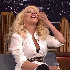 """Musical Impressions"" segment on Jimmy Fallon talk show LOL - Christina Aguilera's Britney Spears Impression Is Just Plain Perfect"
