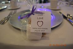S'mores kit for guest favors! #weddingfavors #capriottiscatering #summerweddings #julyweddings