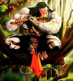 Lord Hanuman is great musician Hanuman Tattoo, Hanuman Chalisa, Krishna, Motif Music, Shri Ram Wallpaper, Hanuman Ji Wallpapers, Hanuman Images, Lord Mahadev, Lord Shiva Family