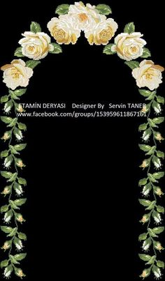 Cross Stitch Rose, Cross Stitch Flowers, Prayer Rug, Garland, Diy And Crafts, Embroidery, Sewing, Frame, Floral