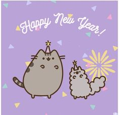 Happy new year from Pusheen and friends!