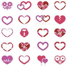 Assorted Small Heart Tattoo Designs