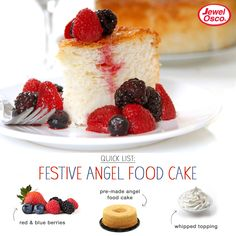Festive Angel Food Cake