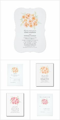 Flowers Romantic Watercolor Wedding Collection
