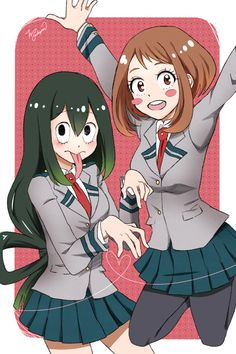 "mochijam: "" MHA girls are so adorable!!! """