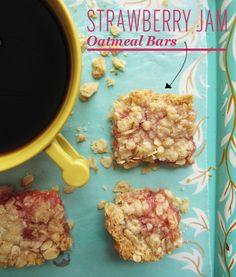 Strawberry Jam Oatmeal Bars Recipe