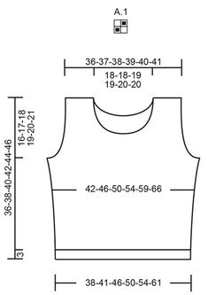 Knitted top in 2 strands DROPS Safran. Piece is knitted in moss stitch. Size: S - XXXL Drops Design, Knitting Patterns Free, Free Knitting, Schematic Drawing, Thing 1, How To Measure Yourself, Cast Off, Moss Stitch, Labor