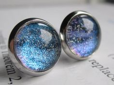 Hydrogen  Earring studs  science jewelry  by DarkMatterJewelry, $11.00