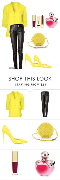 """""""...& YELLOW !!!"""" by betty-sanga ❤ liked on Polyvore featuring Jane Norman, Balmain, Dolce&Gabbana, Marc by Marc Jacobs, Nina Ricci and PUR"""
