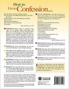 This picture shows the process and steps involved in the Sacrament of Reconciliation (Confession). Sadly, too many people too rarely avail themselves of this wonderful sacrament, so it's nice to have a refresher guide. Catholic Religious Education, Catholic Beliefs, Catholic Quotes, Catholic Traditions, Christianity, Catholic Saints, Catholic Lent, Catholic Sacraments, Chakra Meditation
