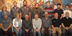 Holiday World recently honored 14 full-time employees for their more than two centuries of service.