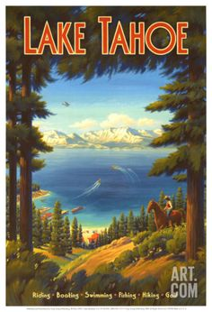 Lake Tahoe Art Print by Kerne Erickson at Art.com