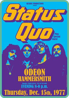STATUS QUO  london  Hammersmith Odeon  15 december by tarlotoys