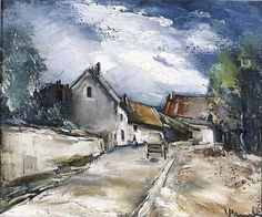 Maurice de Vlaminck (French, Italian Village, n. Oil on canvas, 44 x cm. Henri Matisse, Raoul Dufy, Landscape Art, Landscape Paintings, Watercolor Paintings, Oil Paintings, Landscapes, Andre Derain, Georges Braque