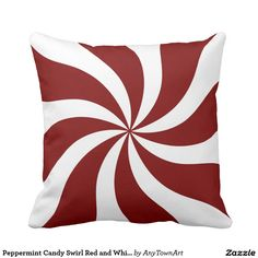 Peppermint Candy Swirl Red and White