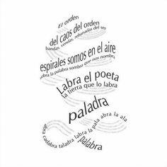 Poesía visual - Forma de expresión artística caracterizada por la combinación de la palabra y la imagen. Género artístico de pequeño formato que a partir de unos pocos elementos y unos mínimos requisitos materiales, atesora la capacidad de producir un gran impacto.