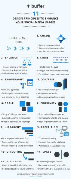 11 #Design Principles to Enhance Your #SocialMedia Images #Infographic