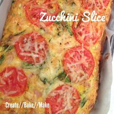 I decided to turn to one of my favourite 'go to' recipes - Zucchini Slice, which I knew everyone would eat and best of all I could freeze the leftovers.