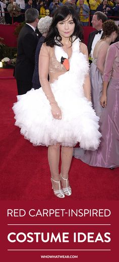 15 iconic red carpet looks that would be awesome as Halloween costumes. (Feat. Bjork's swan dress, Jennifer Lopez's Versace look, and more.)