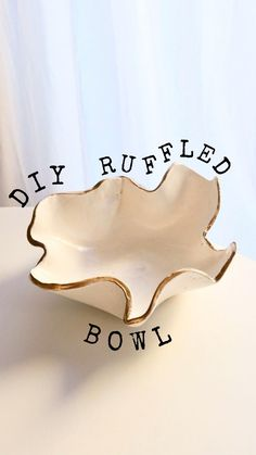 Diy Crafts For Home Decor, Diy Crafts Hacks, Diys, Diy Air Dry Clay, Air Drying Clay, Polymer Clay Crafts, Diy Clay, Keramik Design, Ceramic Pottery