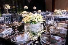 Decoração das mesas de jantar