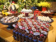 Mesa de doces fazendinha