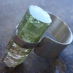 Tourmaline Crystal and Sterling...  from beaucoupdebijoux (Rose West & Stephanie Quintero  Salt Lake City, Utah)
