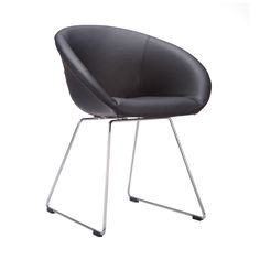 What a class act! This cushioned black chair has the elegance of the 1960s, merged with modern stylings of today. Your mid-century living room is the perfect place for this elegant piece.  Find the Katherine Lounge Chair, as seen in the The Inventor's Lab Collection at http://dotandbo.com/collections/the-inventors-lab-1?utm_source=pinterest&utm_medium=organic&db_sku=DBI1211-BLK