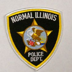 """Normal Illinois Police Dept Approx 4 5"""" Police Patch Pi 1 
