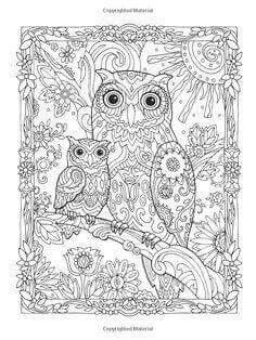 Owl coloring | animal coloring | Pinterest | Owl, Adult coloring and ...
