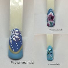 Nail art - blue designs