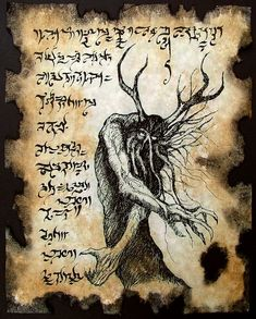 Items similar to Cthulhu Necronomicon Fragment larp YOG SOTHOTH occult outsider magick dark art on Etsy Necronomicon Lovecraft, Lovecraft Cthulhu, Hp Lovecraft, Larp, Fantasy Rpg, Dark Fantasy, Yog Sothoth, Lovecraftian Horror, Book Of The Dead