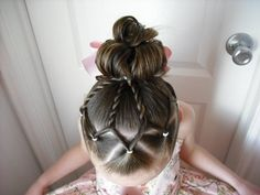 This website has the cutest, craziest hair ideas for little girls.