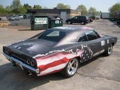 68 Charger..Re-pin brought to you by agents of #Carinsurance at #HouseofInsurance in Eugene, Oregon Old Muscle Cars, American Muscle Cars, American Flag, American Graffiti, Automobile, Vintage Cars, Antique Cars, 1968 Dodge Charger, Dodge Chrysler
