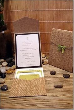 Island theme destination wedding invitation