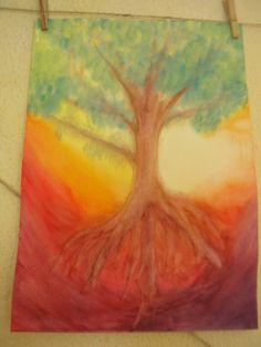 Yggdrasil wet-on-wet painting