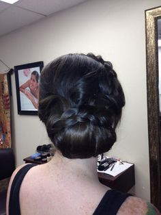 Updo with braid by Bella Angel.