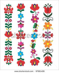 Hungarian Embroidery Stitch embroidery hungarian pattern - buy this stock vector on Shutterstock Mexican Embroidery, Hungarian Embroidery, Learn Embroidery, Crewel Embroidery, Embroidery Patterns, Tattoo Patterns, Hungarian Tattoo, Embroidery Online, Flower Embroidery