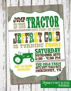 08054b4b5ad264442988cf952d74fcc7 tractor birthday invitations camo birthday tractor birthday invitation john deere farm by sevenstorymountain,Tractor Birthday Party Invitations